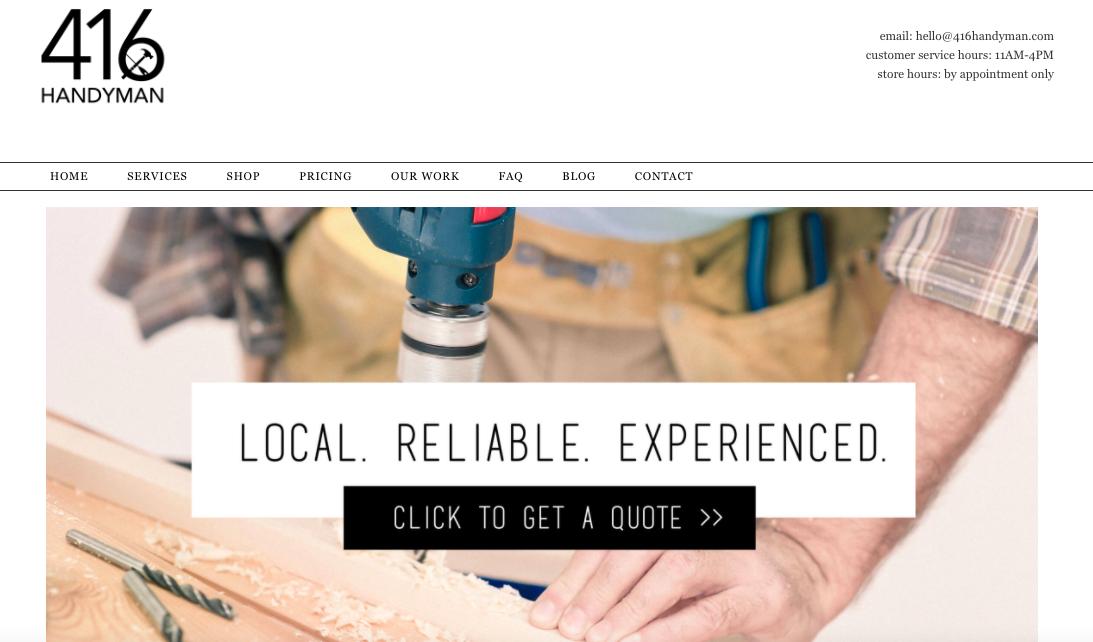 416 Handyman Website
