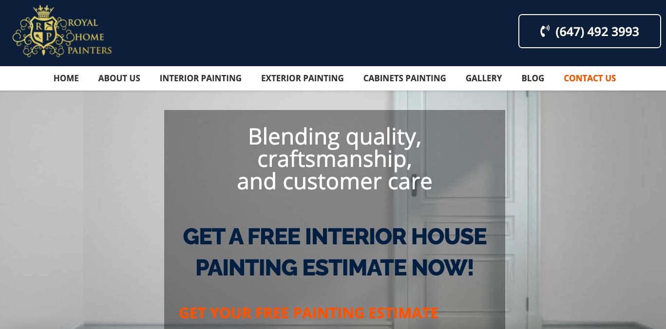 Royal Home Painters Website