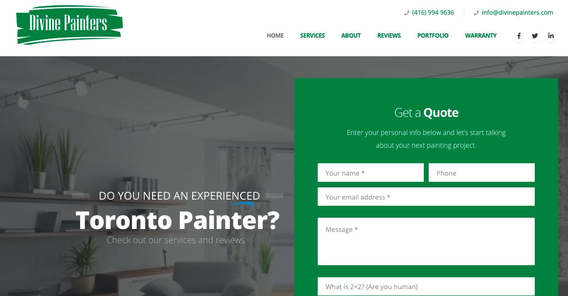 Divine Painters Website