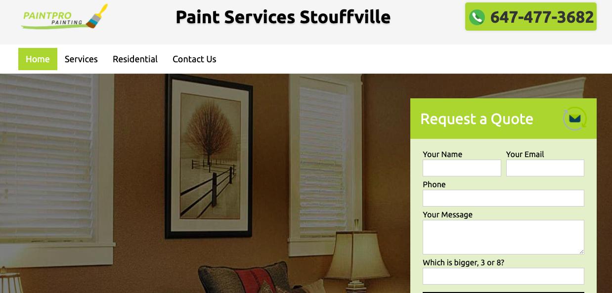 Paint Services Stouffville Website