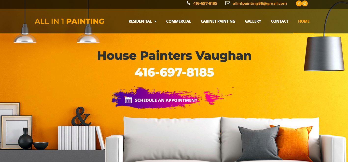 All in 1 Painting Website House Painters in Vaughan