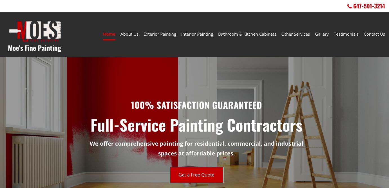 Moe's Fine Painting Website